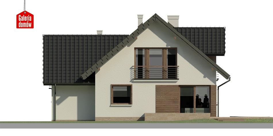 Dom przy Cyprysowej 33 - elewacja tylna