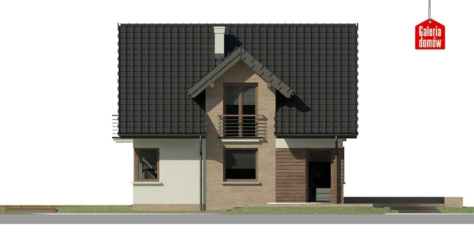 Dom przy Cyprysowej 33 - elewacja lewa