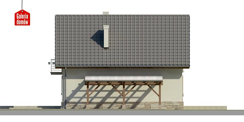Dom przy Cyprysowej 34 long - elewacja tylna