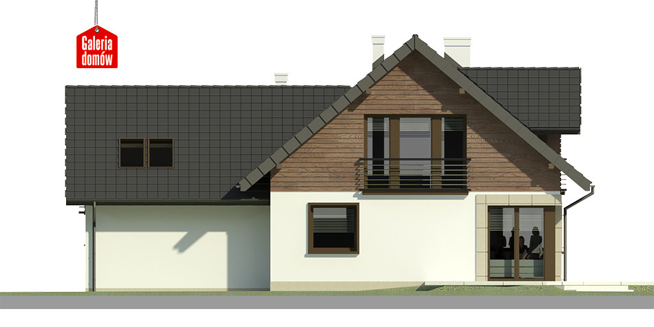 Dom przy Cyprysowej 36 - elewacja tylna