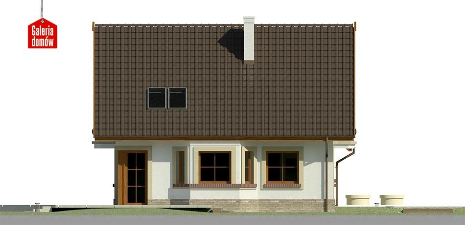 Dom przy Cyprysowej 37 - elewacja lewa