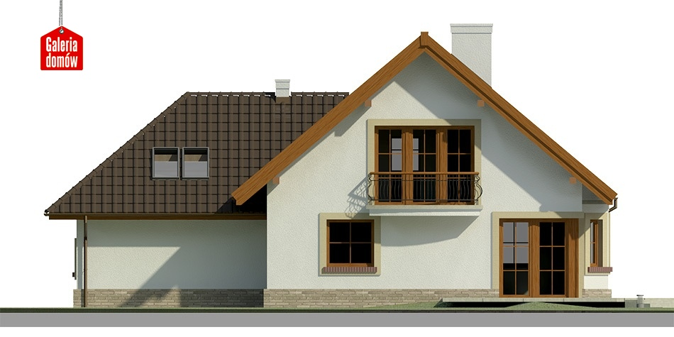 Dom przy Cyprysowej 38 - elewacja tylna