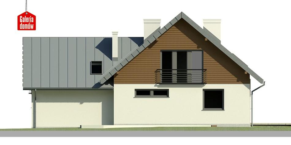Dom przy Cyprysowej 4 - elewacja tylna