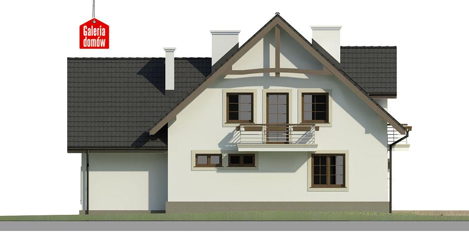 Dom przy Cyprysowej 40 - elewacja tylna