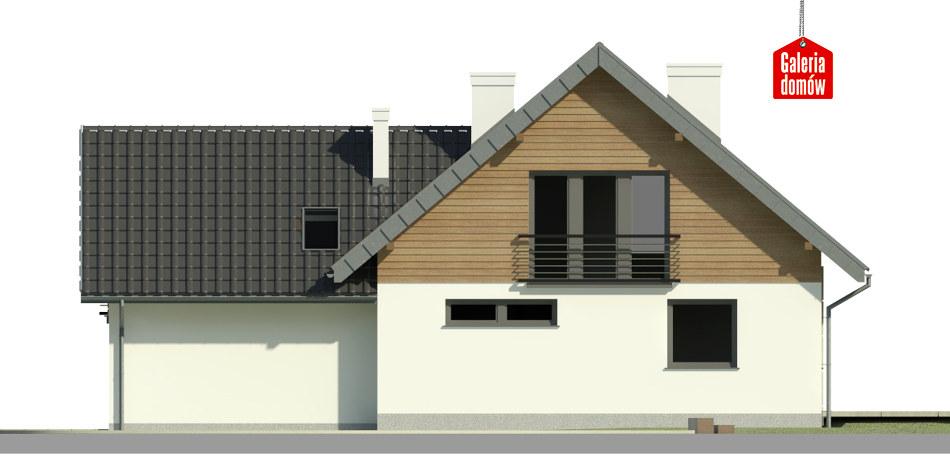 Dom przy Cyprysowej 41 - elewacja tylna