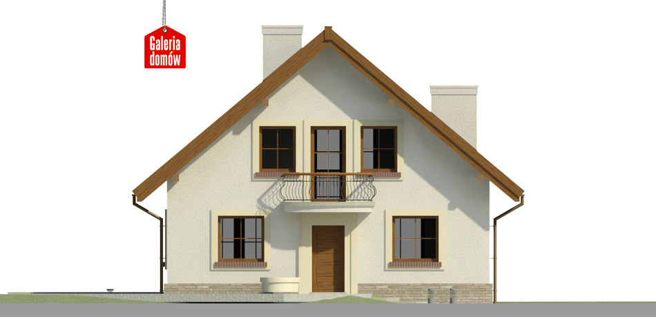Dom przy Cyprysowej 42 - elewacja frontowa