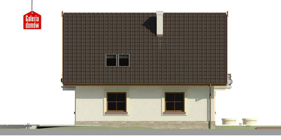Dom przy Cyprysowej 42 - elewacja lewa