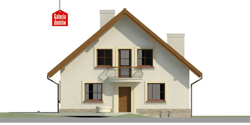 Dom przy Cyprysowej 43 - elewacja frontowa