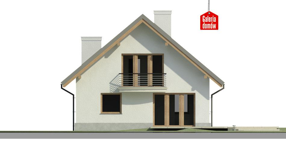 Dom przy Cyprysowej 44 - elewacja tylna