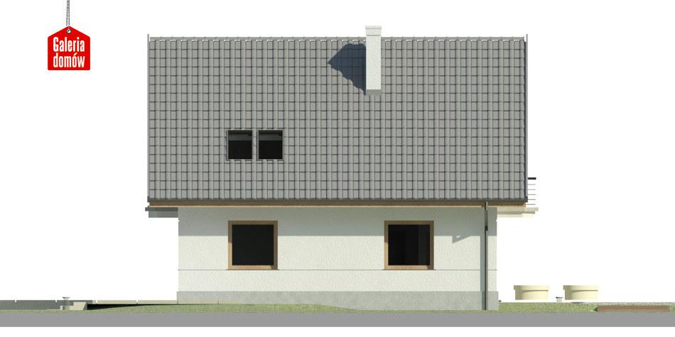 Dom przy Cyprysowej 45 - elewacja lewa