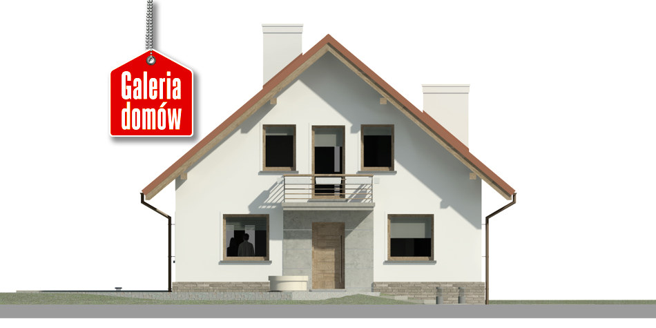 Dom przy Cyprysowej 48 - elewacja frontowa