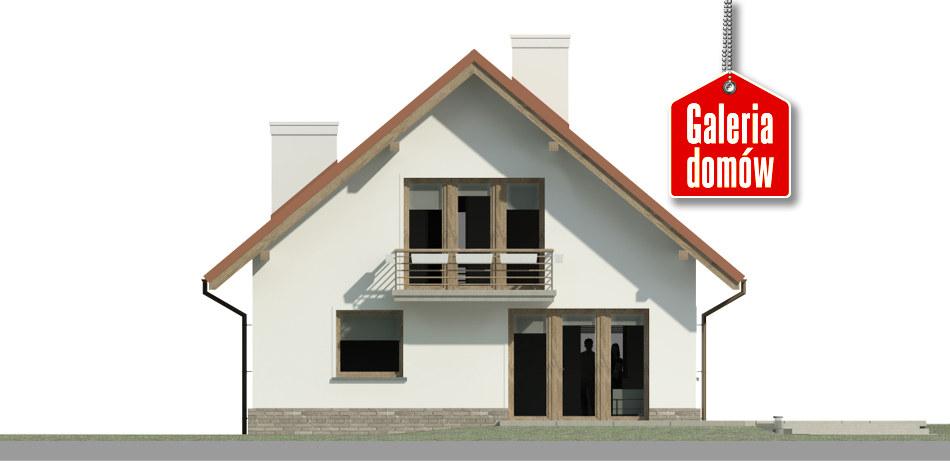 Dom przy Cyprysowej 48 - elewacja tylna
