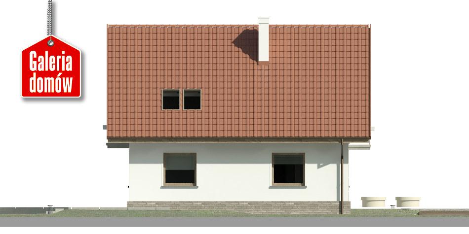Dom przy Cyprysowej 48 - elewacja lewa