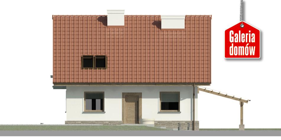 Dom przy Cyprysowej 49 - elewacja frontowa