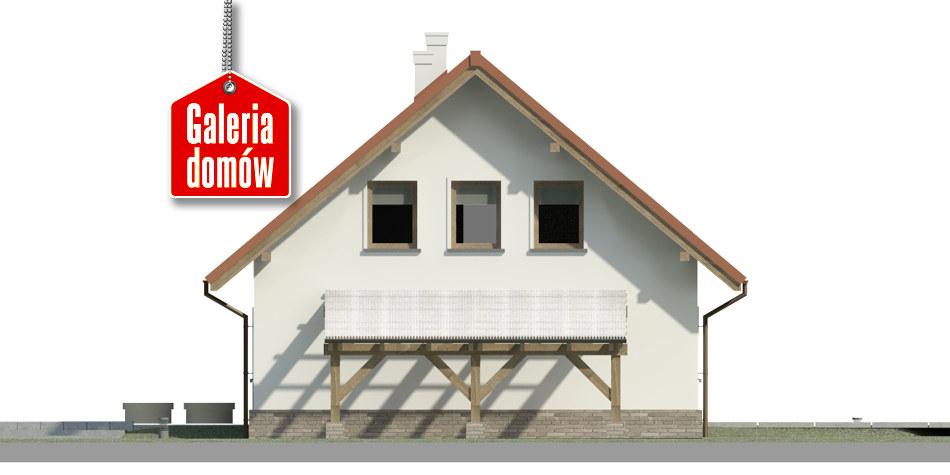 Dom przy Cyprysowej 49 - elewacja prawa