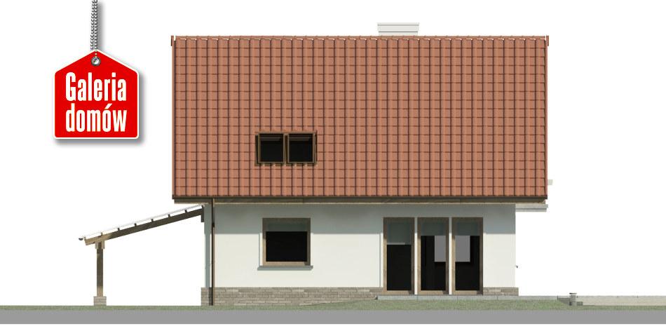 Dom przy Cyprysowej 49 - elewacja tylna