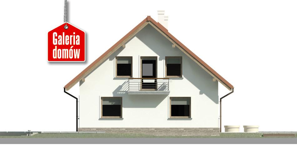 Dom przy Cyprysowej 49 - elewacja lewa