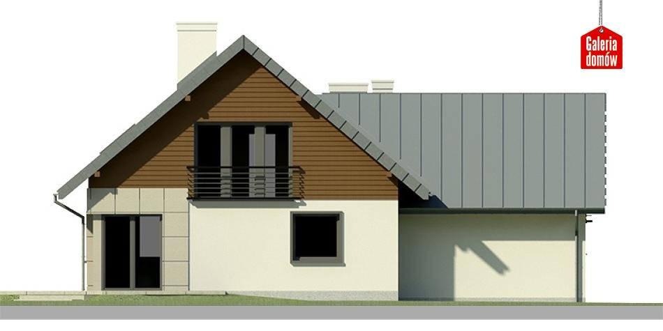 Dom przy Cyprysowej 5 - elewacja tylna
