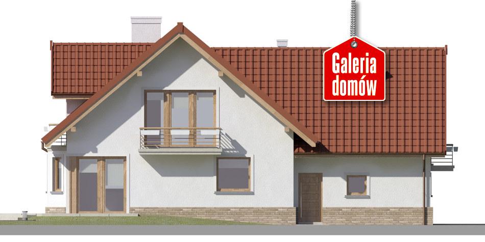 Dom przy Cyprysowej 51 - elewacja tylna
