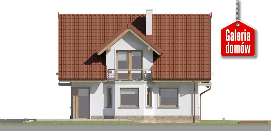Dom przy Cyprysowej 51 - elewacja lewa