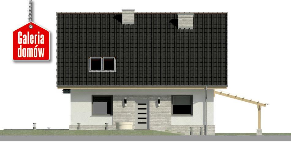 Dom przy Cyprysowej 52 N - elewacja frontowa
