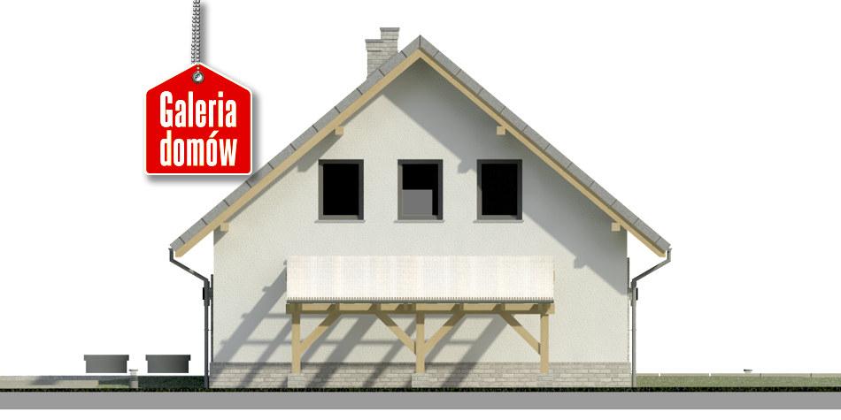 Dom przy Cyprysowej 52 N - elewacja prawa