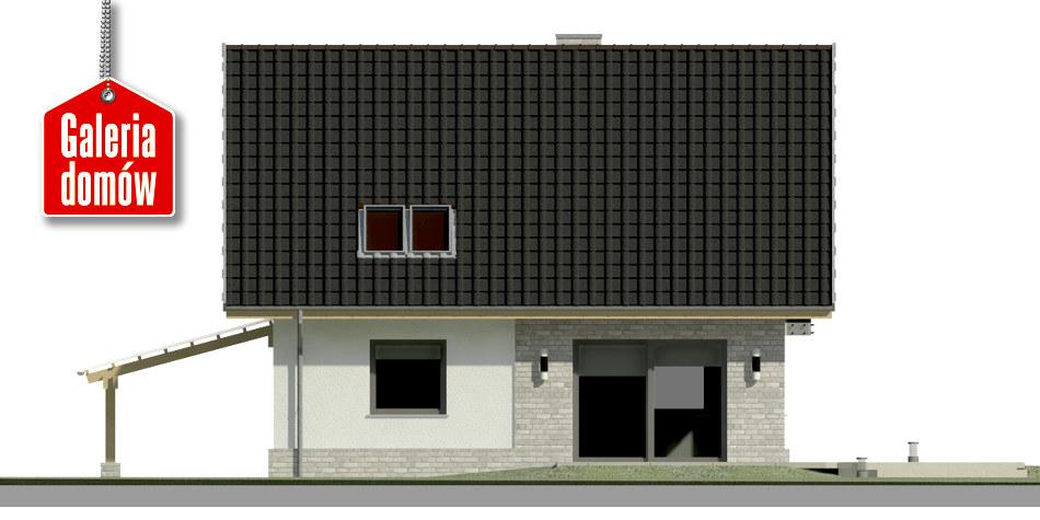 Dom przy Cyprysowej 52 N - elewacja tylna