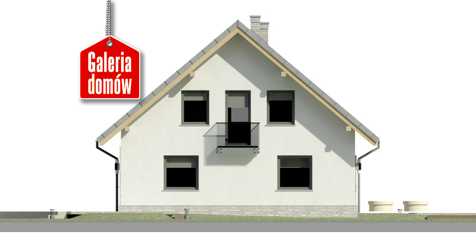 Dom przy Cyprysowej 52 N - elewacja lewa