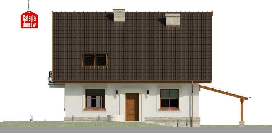 Dom przy Cyprysowej 52 - elewacja frontowa