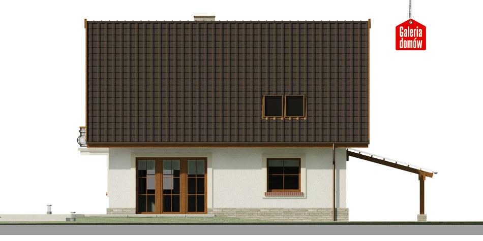 Dom przy Cyprysowej 52 - elewacja tylna