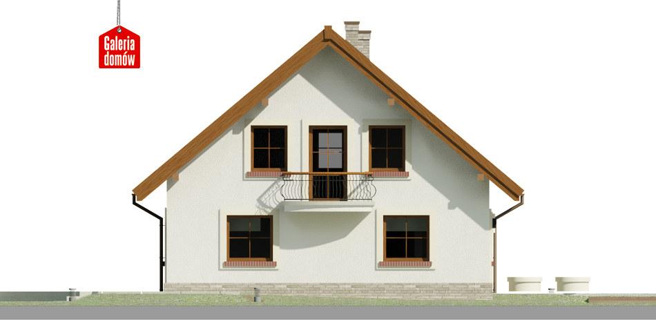 Dom przy Cyprysowej 52 - elewacja lewa