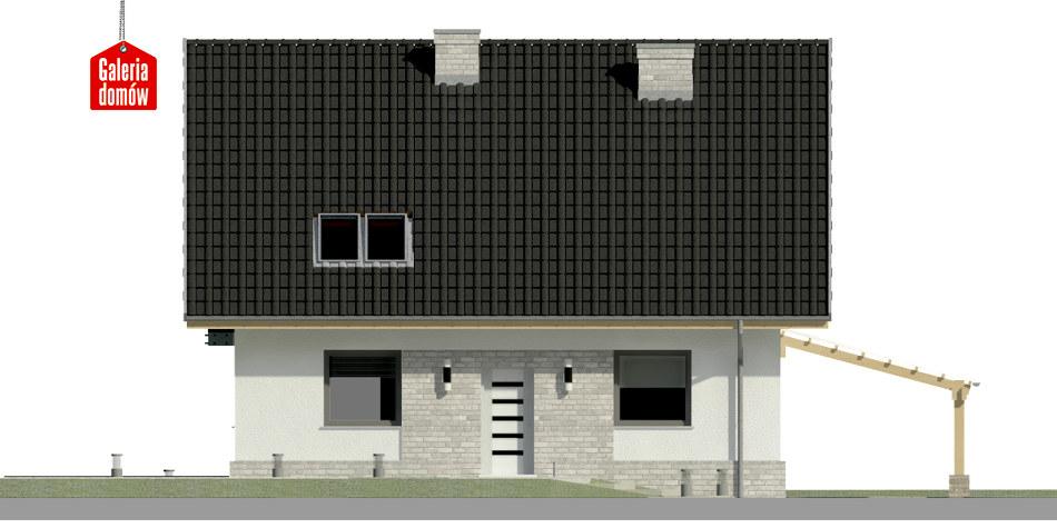 Dom przy Cyprysowej 53 N - elewacja frontowa