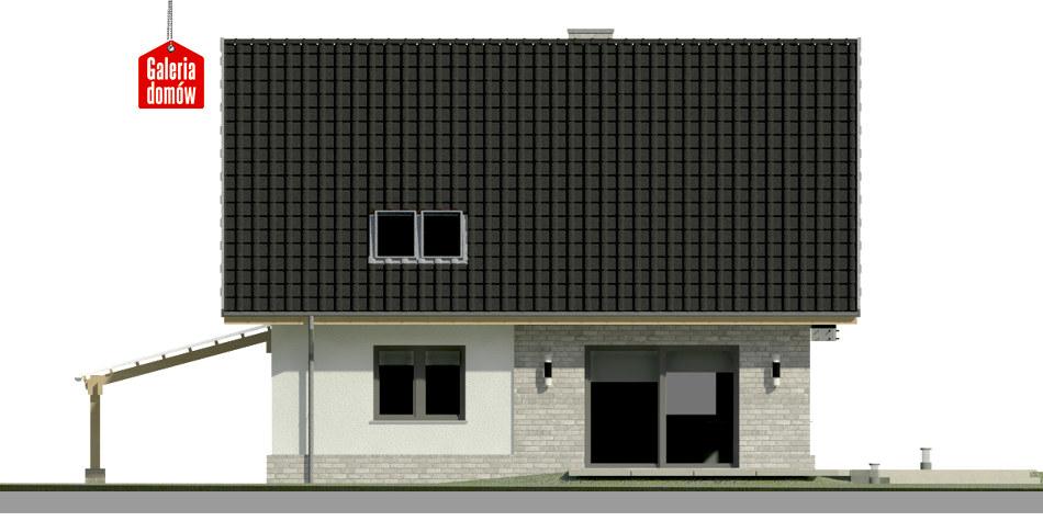 Dom przy Cyprysowej 53 N - elewacja tylna