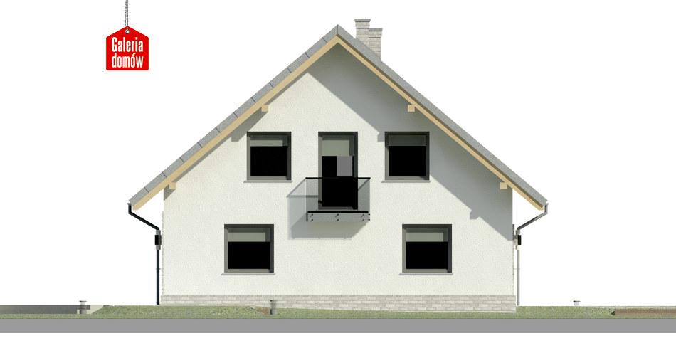 Dom przy Cyprysowej 53 N - elewacja lewa