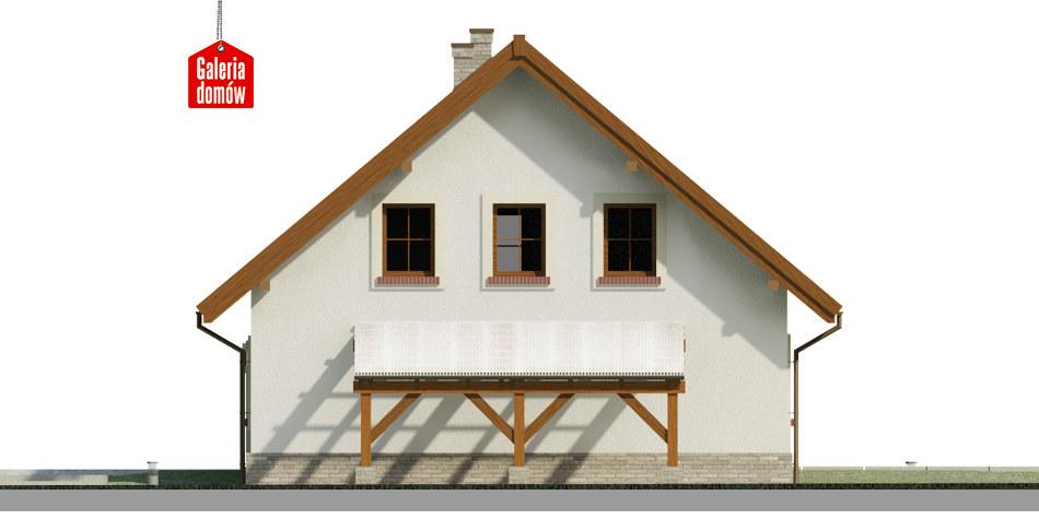 Dom przy Cyprysowej 53 - elewacja prawa