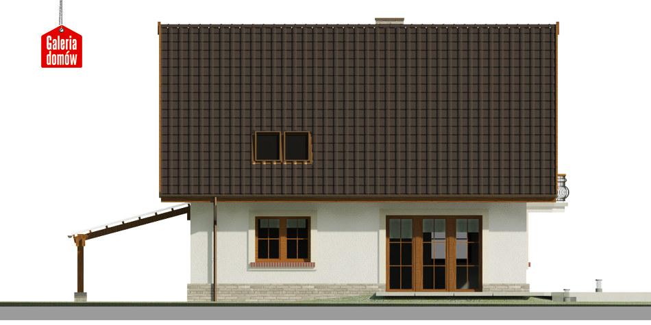 Dom przy Cyprysowej 53 - elewacja tylna