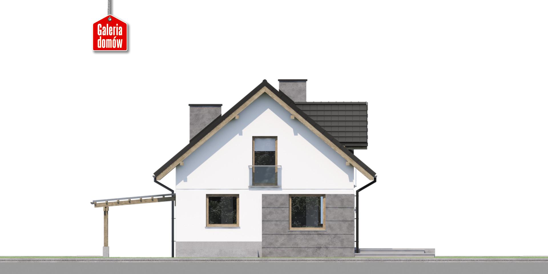 Dom przy Cyprysowej 59 - elewacja tylna
