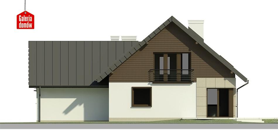 Dom przy Cyprysowej 6 - elewacja tylna