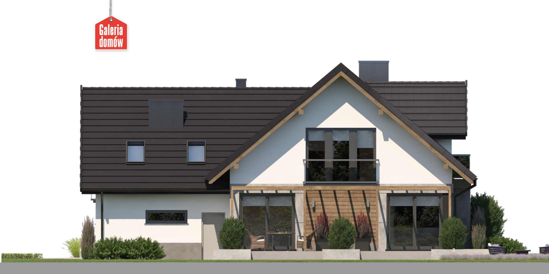 Dom przy Cyprysowej 62 - elewacja tylna