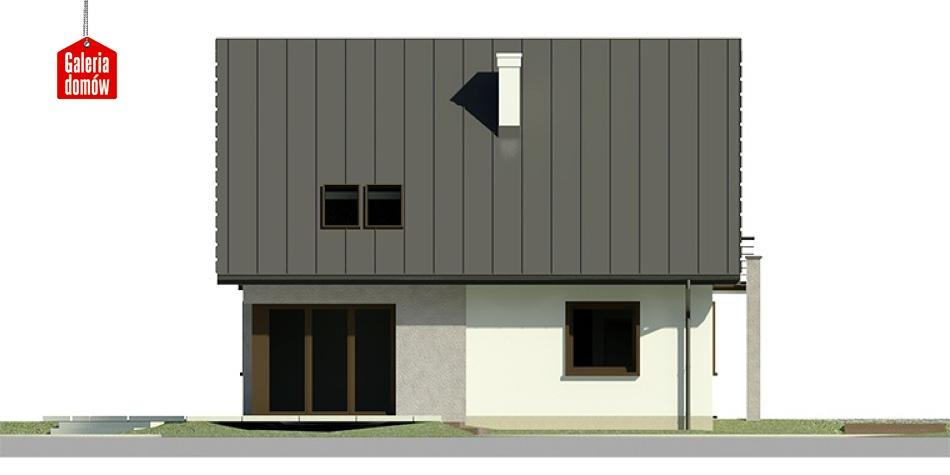 Dom przy Cyprysowej 7 - elewacja lewa