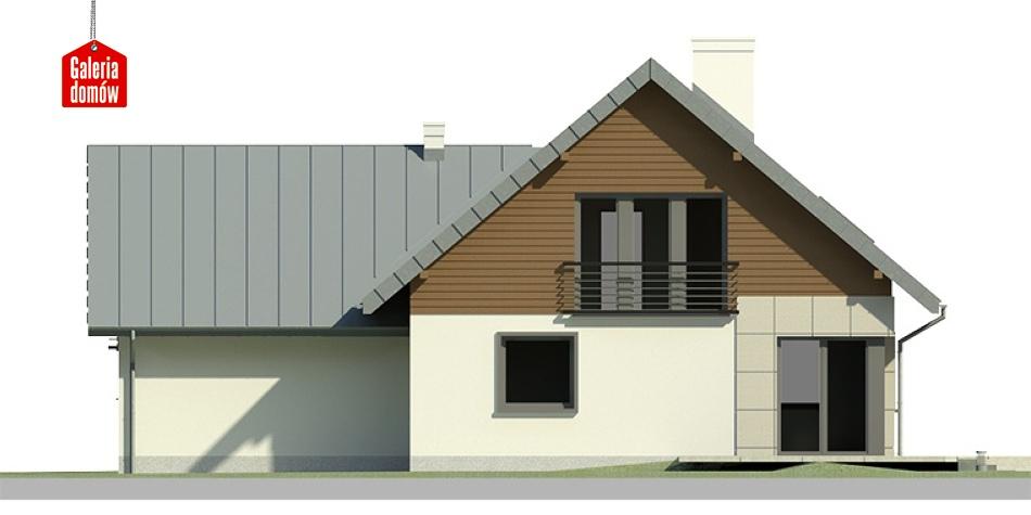 Dom przy Cyprysowej 8 - elewacja tylna
