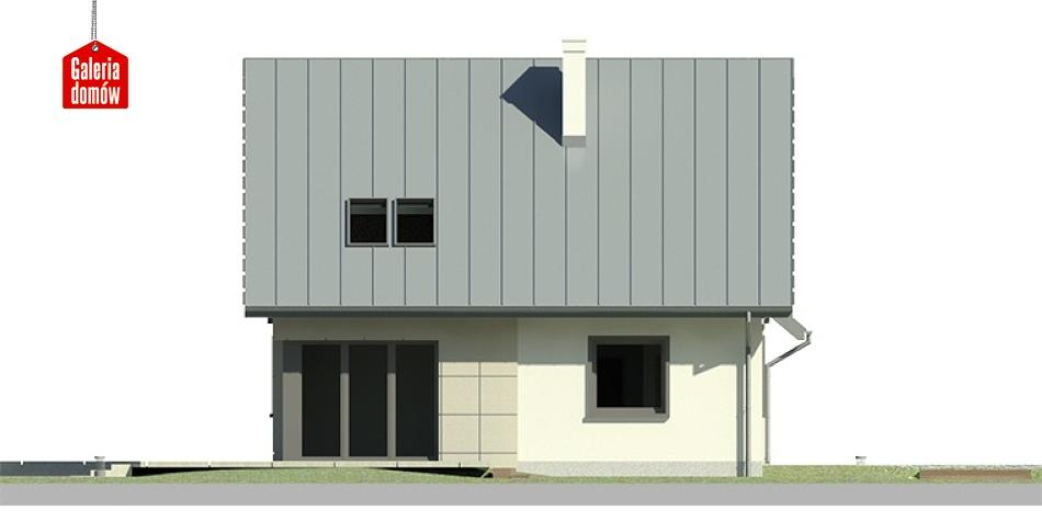 Dom przy Cyprysowej 8 - elewacja lewa