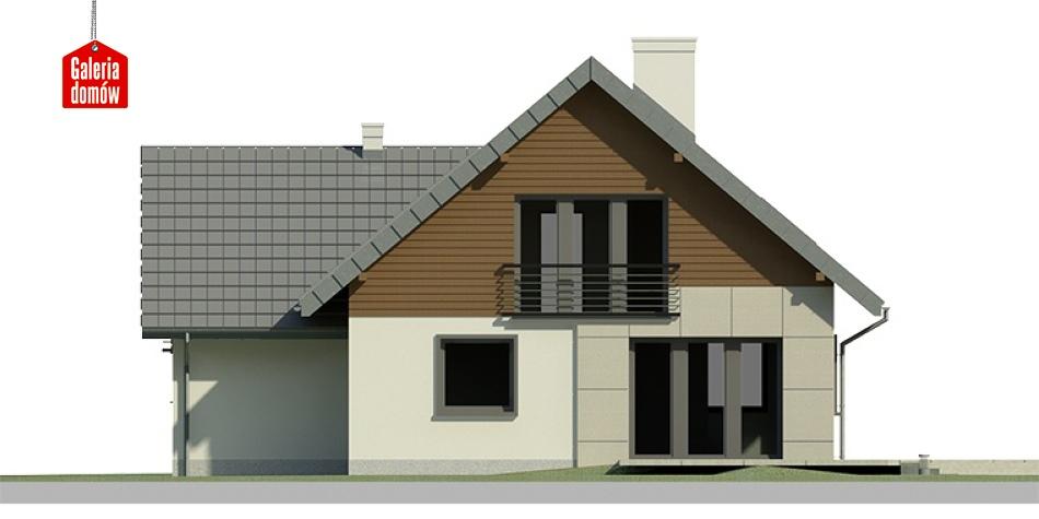 Dom przy Cyprysowej 9 - elewacja tylna