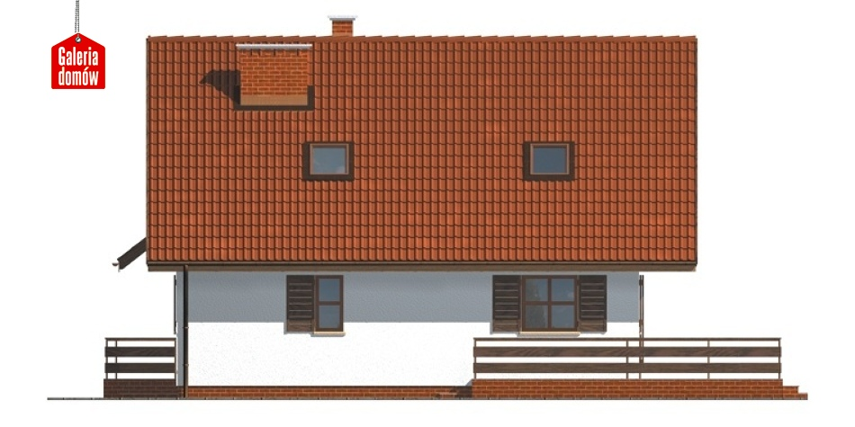 Dom przy Cyprysowej - elewacja prawa