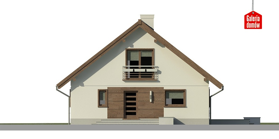 Dom przy Cytrynowej 3 - elewacja frontowa