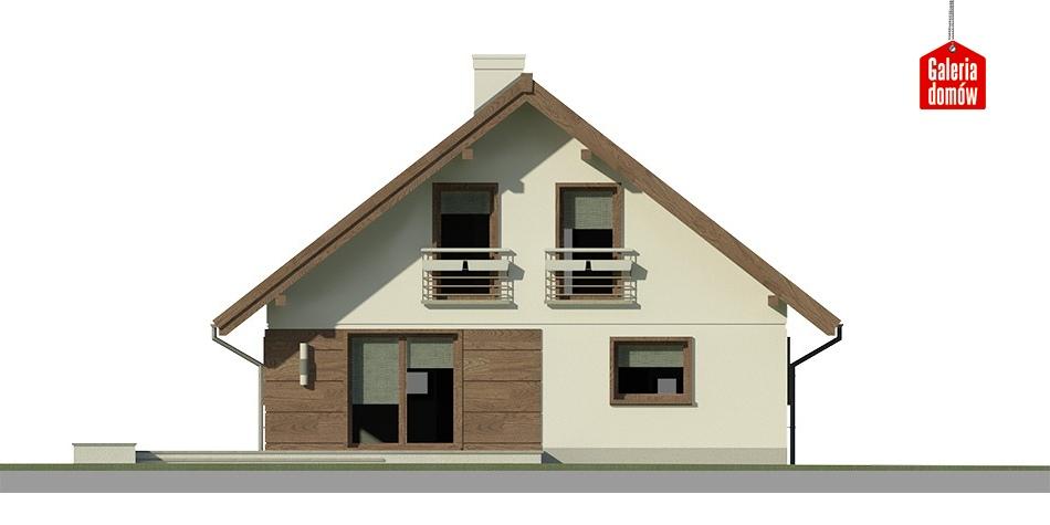 Dom przy Cytrynowej 3 - elewacja tylna
