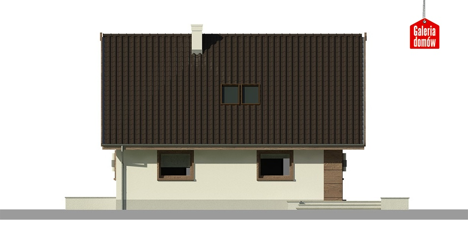 Dom przy Cytrynowej 3 - elewacja lewa