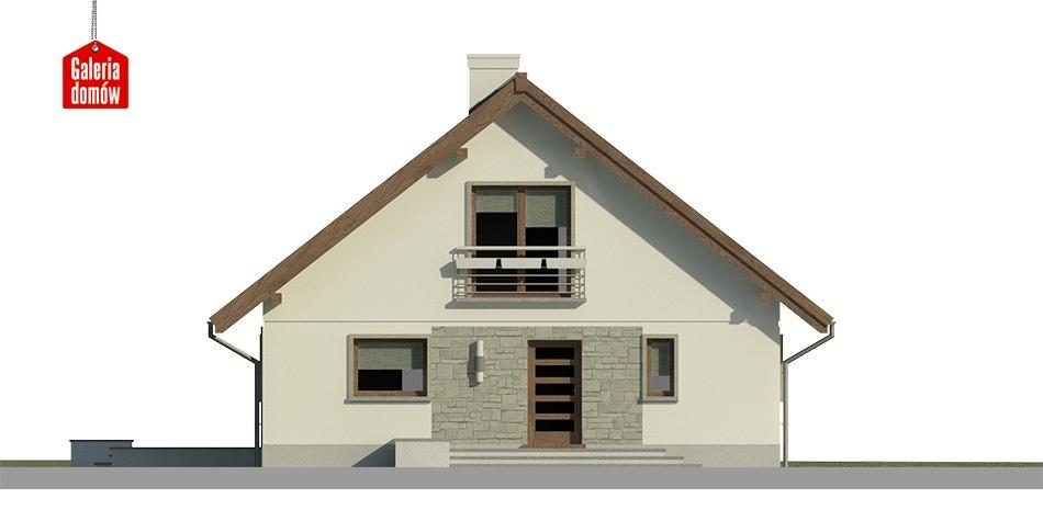 Dom przy Cytrynowej 4 - elewacja frontowa