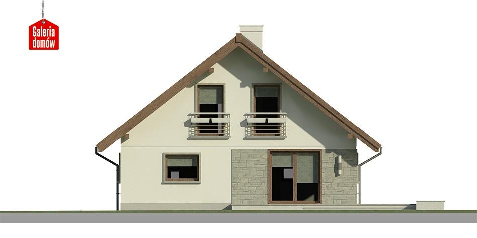 Dom przy Cytrynowej 4 - elewacja tylna