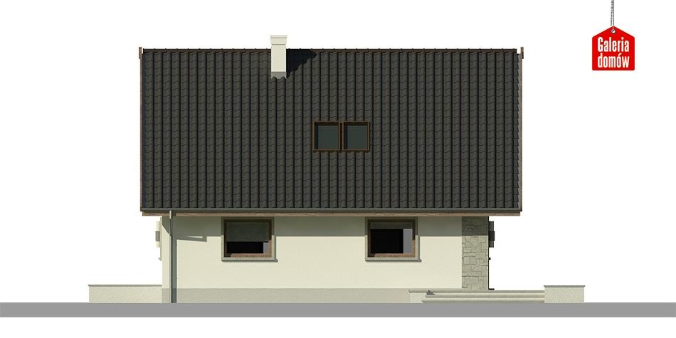 Dom przy Cytrynowej 4 - elewacja lewa